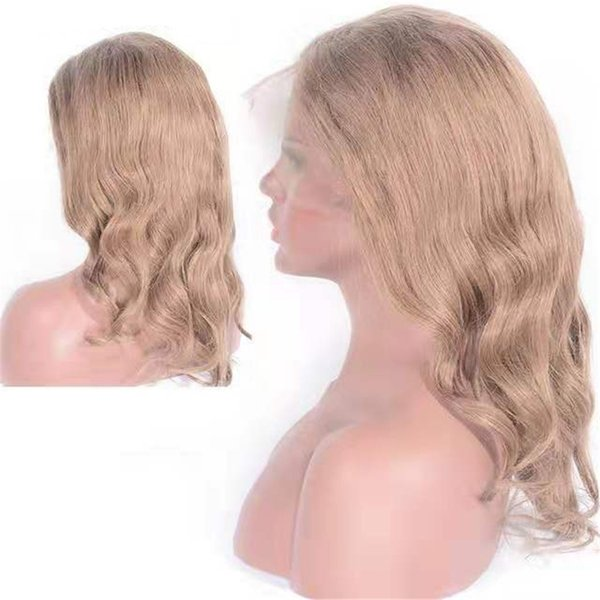 Brazilian Human Hair Lace Front Wigs Pre Plucked Hairline 8# Full Lace Body Wave Wig 6-26 inch Ping