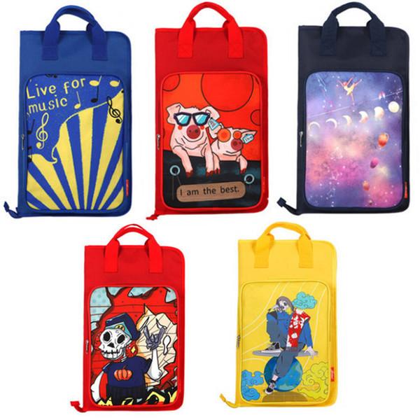 best selling New Cartoon Drum Stick Gig Bag for Kids Padded Zipper Bag for drum stick Black