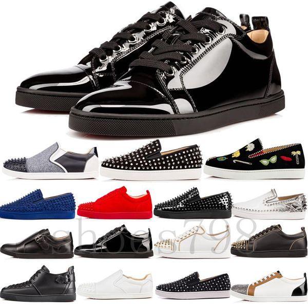 top 2019 hot red bottom gz schuhe 19ss spike socke donna spikes bottom sneakers chaussures heels männer casual frauen low boots designer niet
