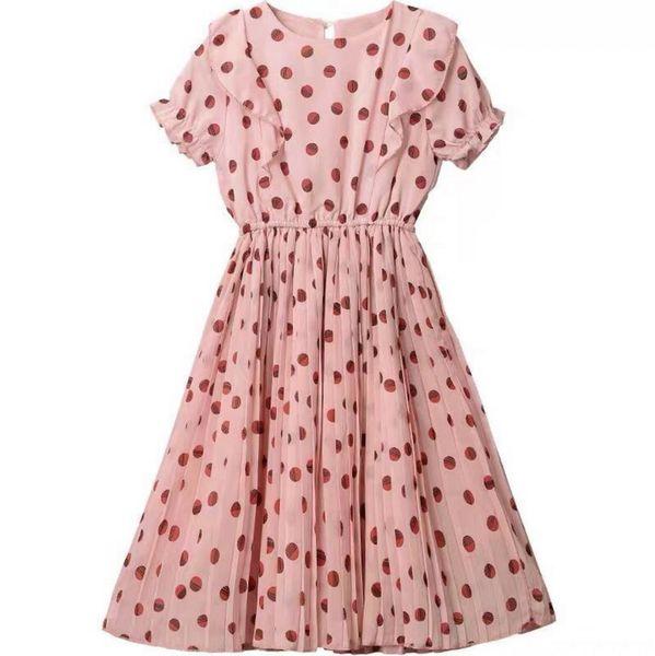 Wholesale Valentines Day Girls Dress Polka Dot Kids Princess Dresses for Girl Fashion Chiffon Dress Kids Clothes 3-12Y E9040