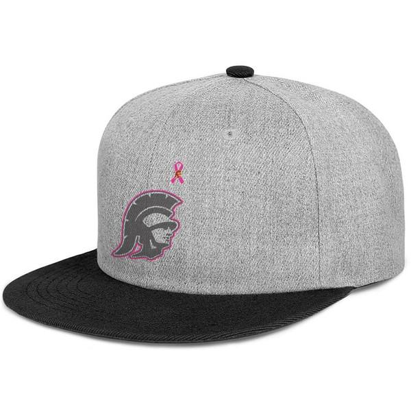 USC Trojans футбол баскетбол розовый рак молочной железы логотип для мужчин и женщин с плоскими полями шляпы черный Snapback дизайнерские шляпы обычная конструкция йо