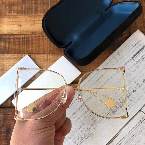 altın çerçeve beyaz lens