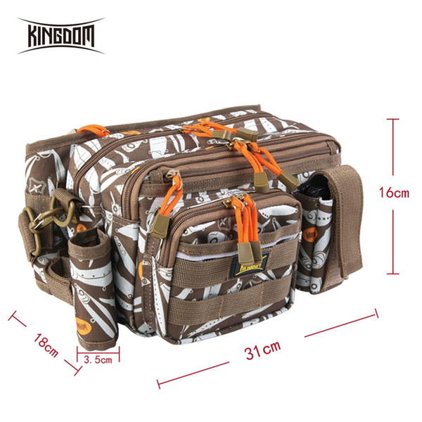 Kingdom Fishing Bag 1000D Waterproof Nylon Large Capacity Multifunctional 681g 31x18x16cm Lure Fishing Tackle Bags Model LYB-12 #316384