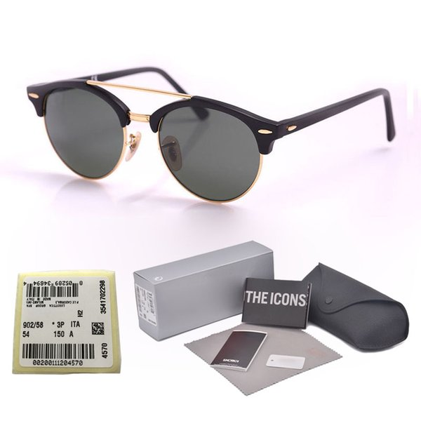 New arrival Brand designer Cat Eye Sunglasses men women Half Frame driving sun glasses UV400 glass lens with Retail packaging and label
