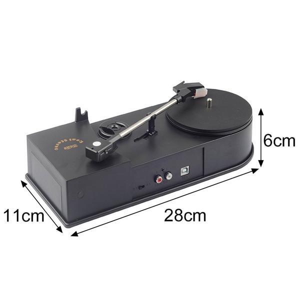 Çok Fonksiyonlu USB Mini fonograf Turntable Oyuncu Audio Player Desteği Döner LP Kayıt için CD MP3 dönüştürme