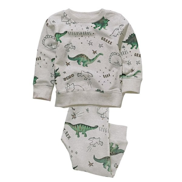 Jumping Meters Brand Children Cotton Boy Clothing Sets Autumn Spring Printed Dinosaur Christmas Baby Suits For Boys 2-7t J190513