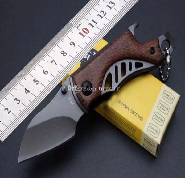T Exquisito D2 / Acero Mini Mango Mecánico de Titanio Plegable Cuchillo de Camping Portátil de Bolsillo Multifunción Al Aire Libre Sobrevivir Herramientas EDC