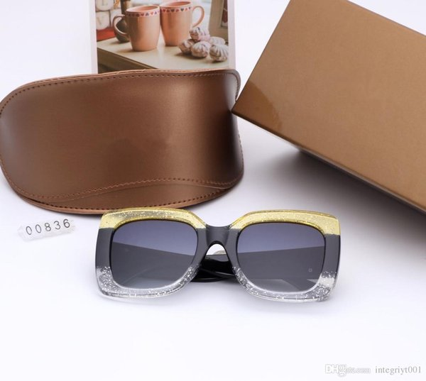 1pcs High Quality Classic Pilot Sunglasses Designer Brand Mens Womens Sun Glasses Eyewear Gold Metal Green 58mm 62mm Glass Lenses Brown Cas