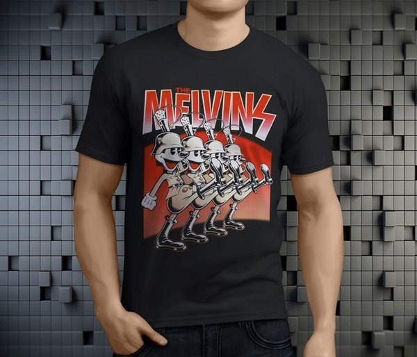 New Popular The Melvins Rock Band Men's Black T-Shirt Size S-3XL