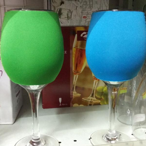 Kırmızı Şarap Cam Kol Çok Renkler Kadeh Yaratıcı Ev Mutfak Kupası Kollu Kapakları Cam Su Şişesi Tutucu TTA1645