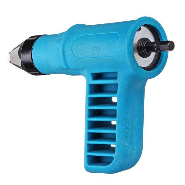 Cordless Riveter Nail Gu n Electric Drill Tools Kit Riveter Adapter Insert Nut +Wrench +Convertible Nozzles