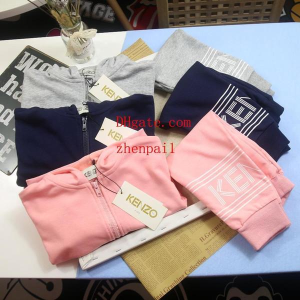 Eşofman iki parçalı set Erkek Kız Marka Set Sıcak Satmak Moda Yaz Çocuk 2019 yaz yeni stil Rahat Çocuk Giyim Tişörtleri Şort Suit
