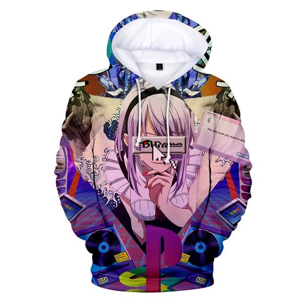 2019 Fashion Vaporwave 3D Printed hoodie Spring/Autumn Tops boy/girl long Sleeve Casual Art Design hoodie