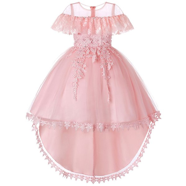 ISHOWTIENDA Yürüyor Bebek Kız Düğün Çiçek Sequins Prenses Parti Resmi Elbise Elbise Bahar yaz tarzı giyim perakende @ 2