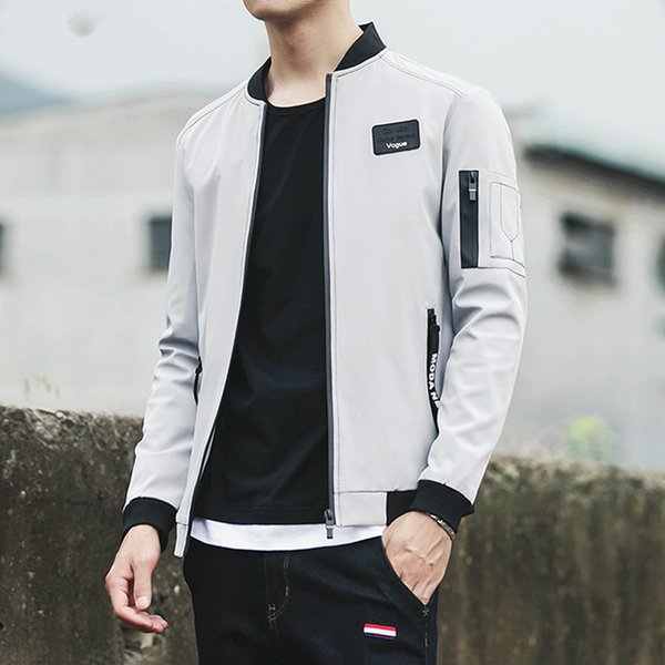 Zogaa 2019 новое прибытие мужская куртка весна осень модный бренд Slim Fit пальто мужской Бейсбол бомбардировщик куртка мужчины пальто большой размер 5XL