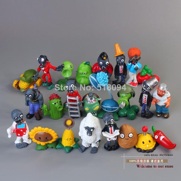 24 unids / lote Pvz Plants Vs Zombies Figuras 3 -8 cm Plantas Y Zombies Pvc Figuras de Acción Colección Juguetes Boy Regalos