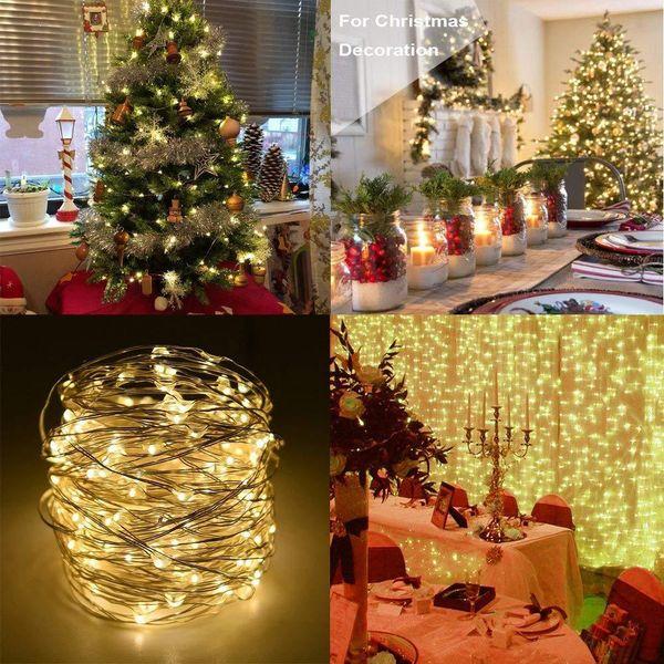 Longest Led String Lights 5m 10m 20m Street Garland Christmas Light Outdoor Christmas Fairy Lights Warm Colorful Starry Light Novelty String Lights