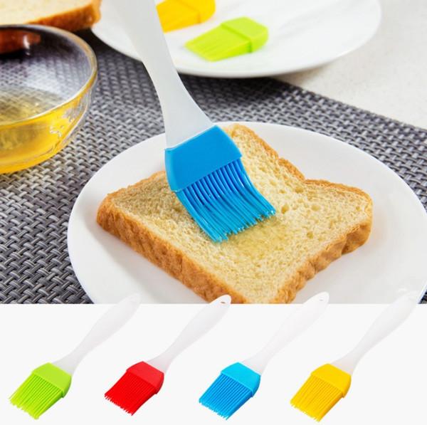 ¡Gran venta! Mantequilla de silicona Cepillo BARBACOA Aceite Cocinar Pastelería Grill Food Bread Basting Brush Para Hornear Cocina Herramienta de Cocina BB6190