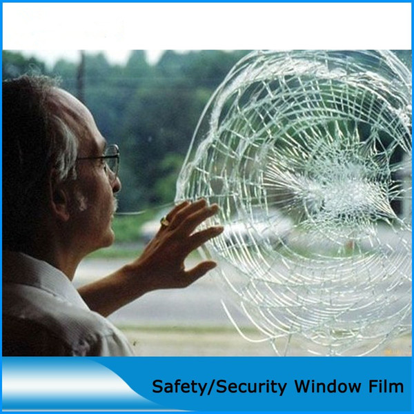 SUNICE 4MIL Transparent Safety&Security Window Film Wrap Home Office Vehicle Window Glass Sunscreen,Waterproof,Heat Insulation
