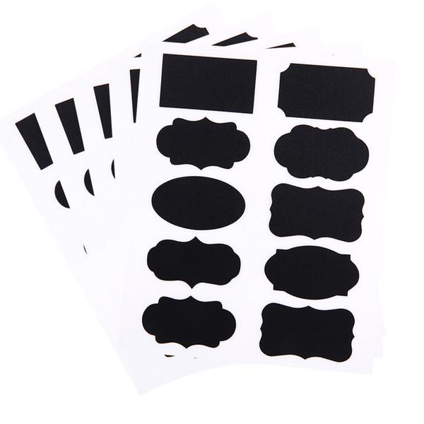 50pcs/5set Blackboard Sticker Craft Kitchen Jar Organizer Chalkboard Labels Wall Sticker For Kids Room Home Decor Supplies