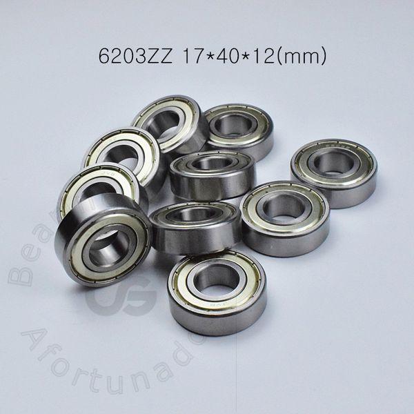 top popular 6203ZZ 1Piece bearing metal sealing bearings Free shipping 6203 6203Z 6203ZZ 17*40*12 mm chrome steel deep groove bearing 2021