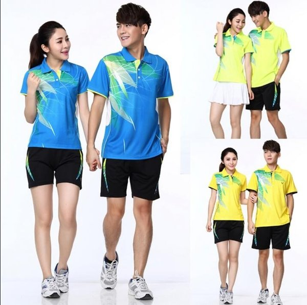 2018 Table tennis Jersey shorts sets,Polyester Moisture absorption Quick-dry Sport shirt,Badminton shirts suits clothing tennis