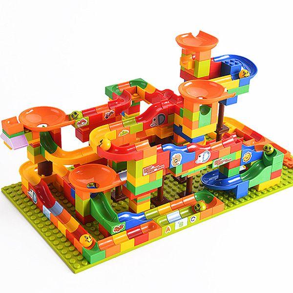 256pcs legoing blocs de construction pour enfants assemblés jouets de petites particules d'enseignement Offres balle balle slide étonnante jouets