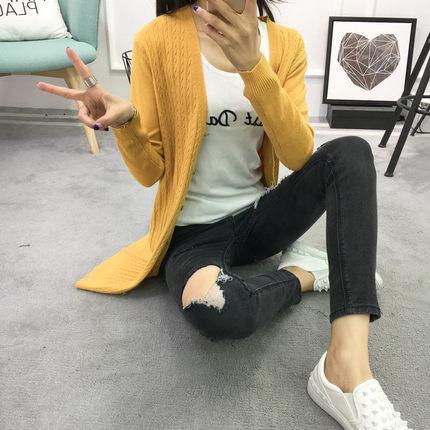 Yeni 2019 Sonbahar Kadın Kazak Hırka Kadın Kaşmir Örme Artı Boyutu Panço Ceket Moda Kış Uzun Kollu Gevşek Kazak