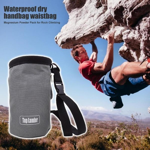 Waterproof Outdoor Rock Climbing Magnesium Powder Bag Pouch Chalk Storage 2019