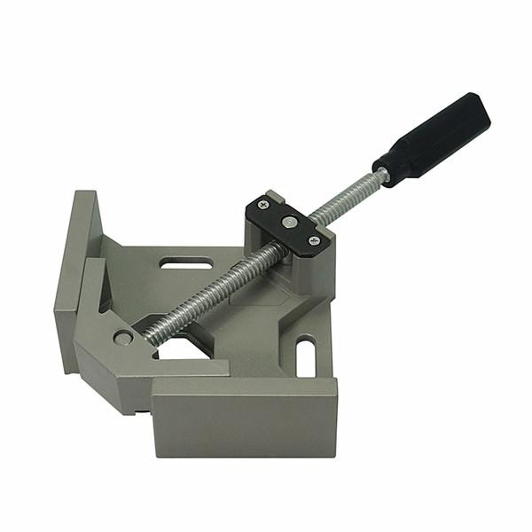 Strumento Cartella maniglia in alluminio singolo 90 gradi angolo retto morsetto legno struttura della clip