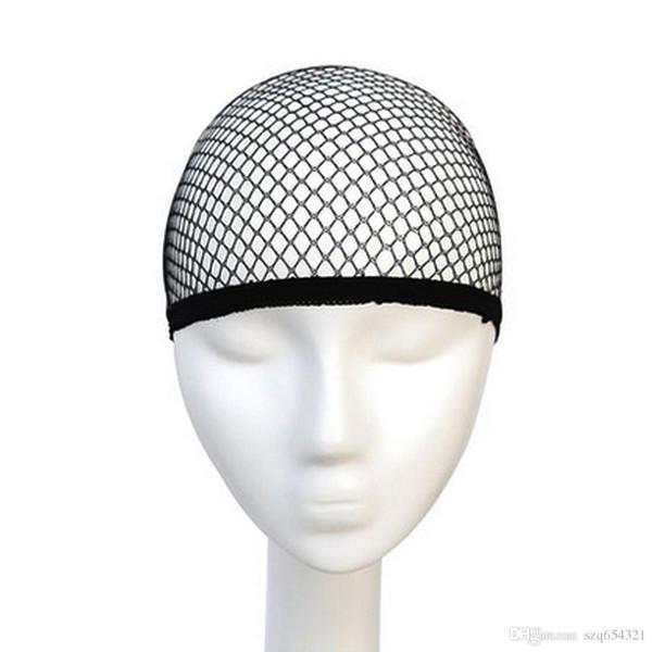 Top Sale Hairnets good Quality Mesh Weaving Black Wig Hair Net Making Caps Weaving Wig Cap & Hairnets
