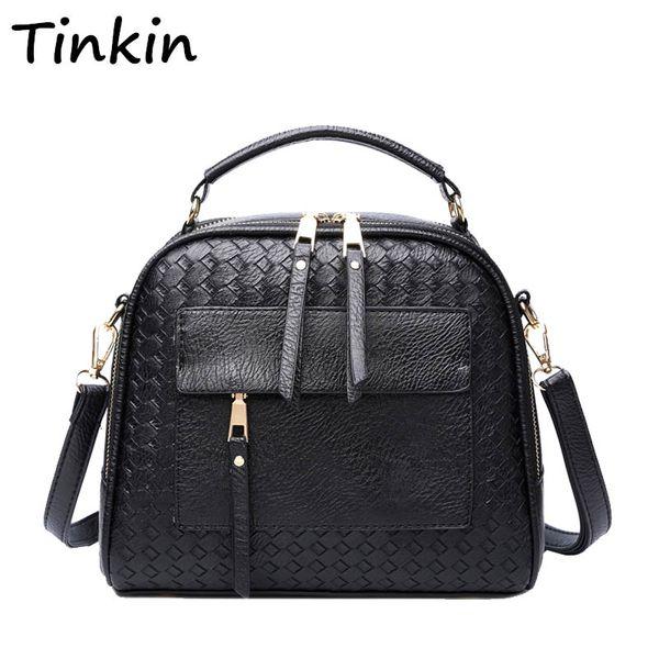 Tinkin Tricô Mulheres Bolsa de Moda Sacos de Ombro Pequeno Casual Feminino CrossBody Bag Retro