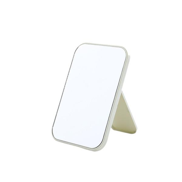 6colors Makyaj Ayna Portatif Katlanır Cep Aynalar Moda Tablo Dresser ışık Ayna Kozmetik Kare Prenses Aynalar GGA3131 doldurun