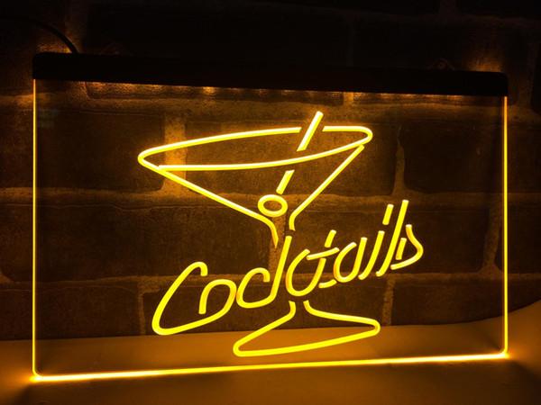 LB522-Kokteyller Rum Şarap Salonu Bar Pub LED Neon Işık Burcu ev dekor el sanatları