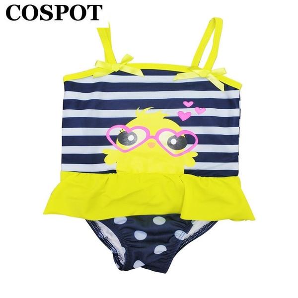 COSPOT 2019 New Baby Girl Summer Swimsuit Girls Striped Swimwear Bebes Beachwear Swim Wear Baby Girl Summer Clothes 30F