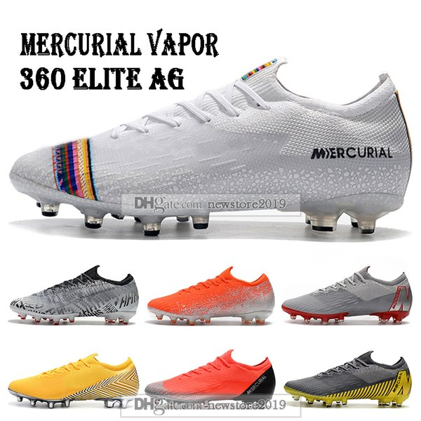 Mens Low Ankle Football Boots LVL UP Mercurial Vapors XII VII Elite AG Soccer Shoes CR7 Superfly VI 360 Neymar ACC Soccer Cleats