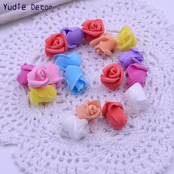 200pcs/lot artificial fragrant foam semi finished products little rose flowers for DIY Marriage room wedding car decoration