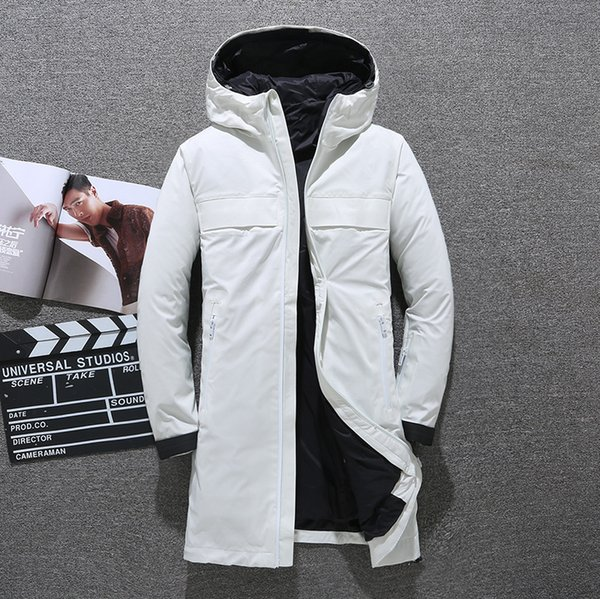 X-Long Down Coat Winter Jacket For Men Duck Down Parkas Hoodies Feather Coats Thick Warm Windbreaker Snow Jacket New Arrivals