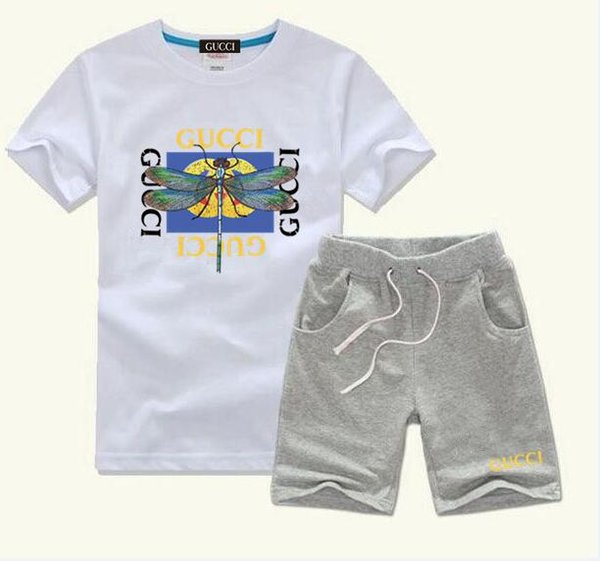 best selling New Style Children's Clothing For Boys And Girls Sports Suit Baby Infant Short Sleeve Clothes Kids Set 2-8 year old