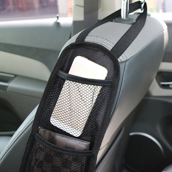 مقعد سيارة جديدة حقيبة التخزين المنظم سيارة لتستيفها الترتيب والتنظيم السيارات مقعد حقيبة جانبية معلقة الجيب غير المنسوجة أكياس القماش السيارات التصميم
