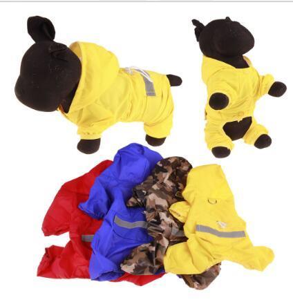 Pet Dog Raincoat For Medium Dog Raincoat Waterproof Rain Coat For Small Dogs Raincoat With Hood Pet Jumpsuit Clothes Supplies