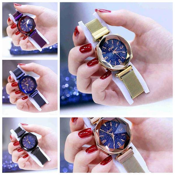 5 Moda nuovo orologio da donna autentico Star Star orologio da polso al quarzo ottagonale impermeabile con assorbimento magnetico pigro a stella