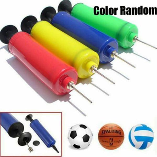 Spor Futbol Futbol Basketbol Voleybol Topu El Spor Kompakt El Hava Pompası Şişirme İğne Adaptörü Rastgele renk Alet ZZA671