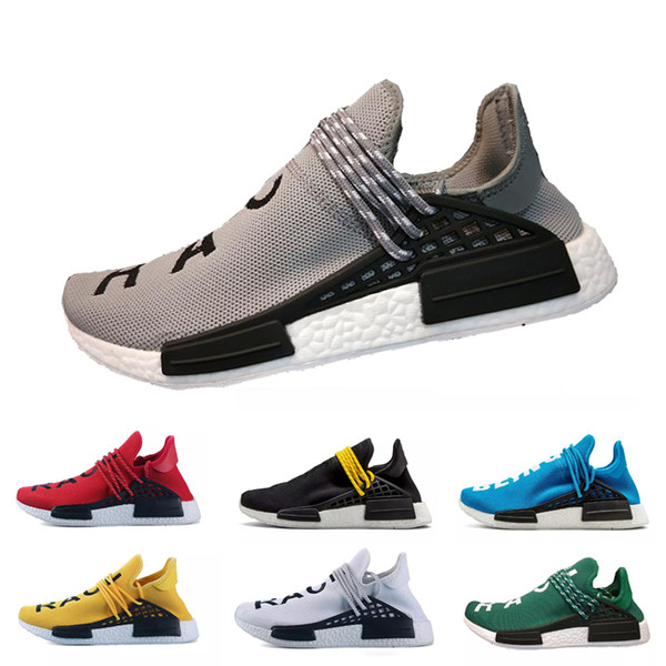 Course humaine Hu trail x pharrell williams hommes chaussures de course Solar Pack Afro Holi Toile vierge pour hommes formateurs baskets de sport