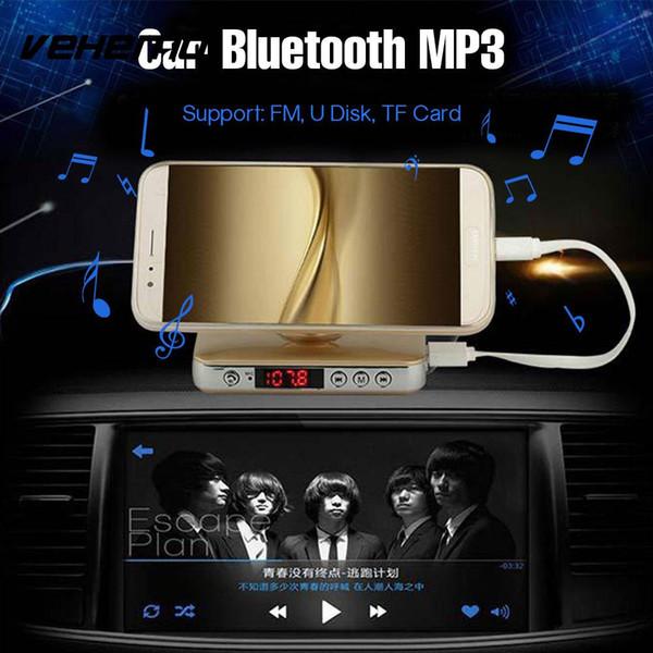 Vehemo LCD Affichage Numérique Récepteur Bluetooth Titulaire Du Téléphone Bluetooth Voiture Mains Libres Chargeur De Voiture Lecteur MP3 pour Usb Répondeur
