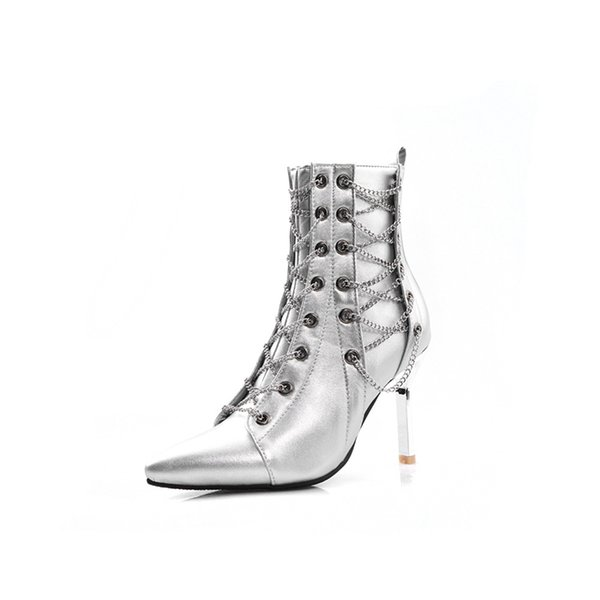 Autumn and Winter Vintage High Heels Ankle Boots for Women