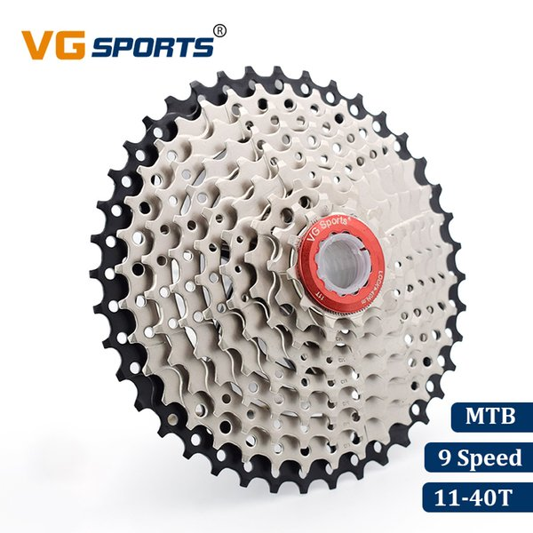 VG Sports Mountain Bike MTB 9 Speed Cassette 9 Velocidade Casette 9S 40T Bicycle Parts Freewheel Sprocket cdg xg 517g