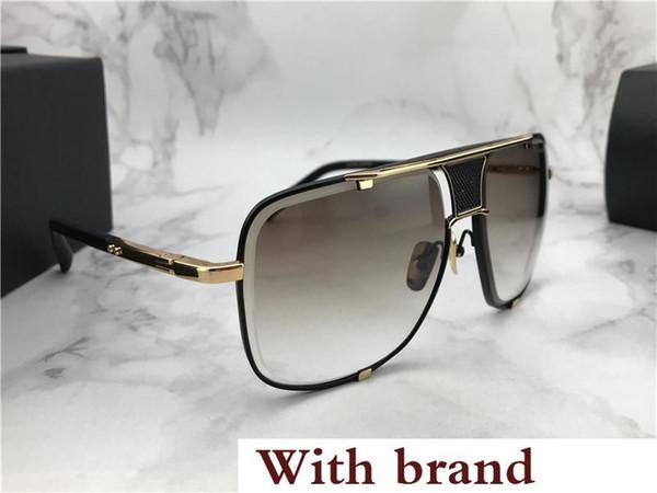 Luxury Square Sunglasses Gold Black Frame Grey Gradient Designer Sunglasses Drive Sun glass Eyewear New with Box