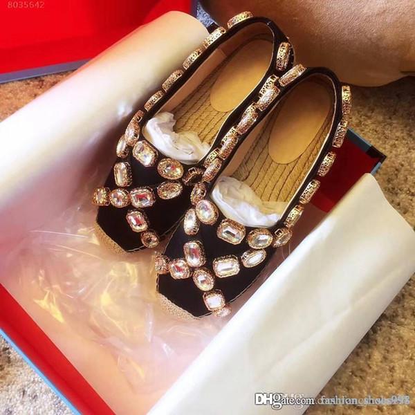 2019 летом двойные жемчужные украшения пряжка соломы сандалии на толстой подошве повседневная комфортная пряжка из бисера декоративные травы тканые дно обувь