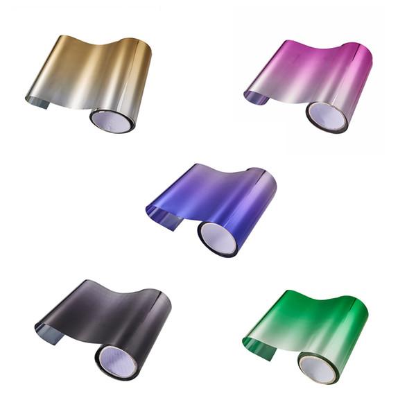 Films de protection solaire pour la voiture 20CMx150CM Film de teinture pour voiture Film de vitre avant Film de pare-brise supérieur Films pare-brise